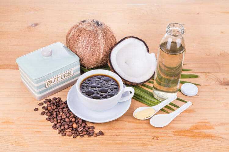 Bulletproof coffee is a convenient way to increase fat intake