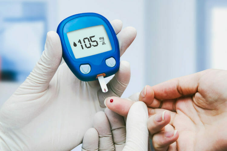 Higher fasting blood glucose