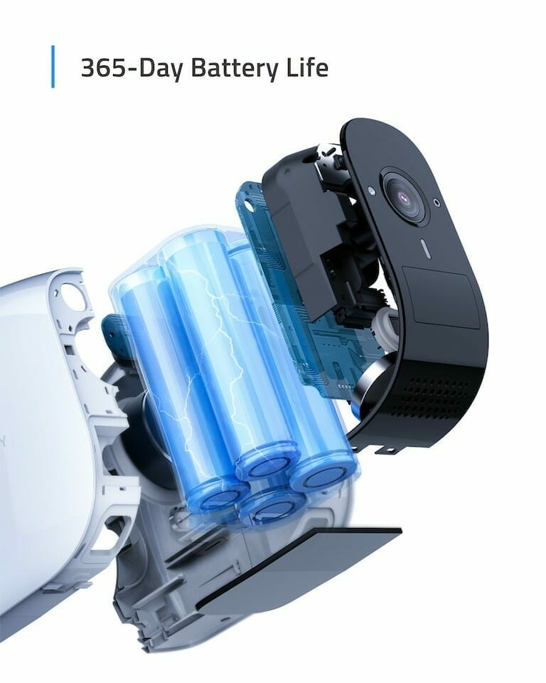 eufyCam E lasts one year on a single charge