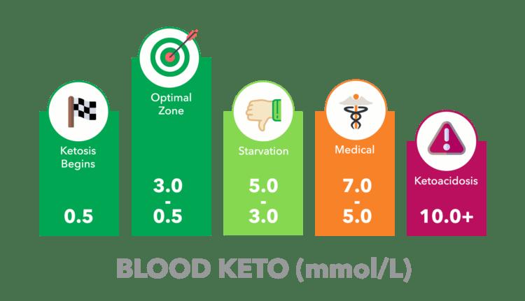 Blood ketone levels