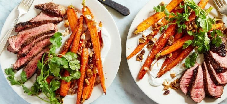 Martha & Marley Spoon: Flank steak with carrots