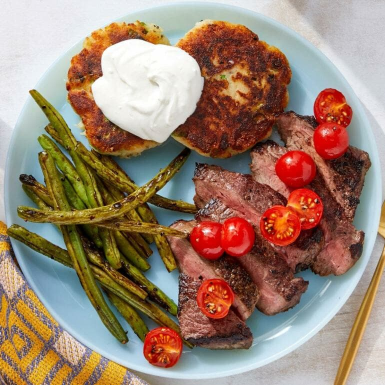 Blue Apron - Seared Steaks & Green Beans