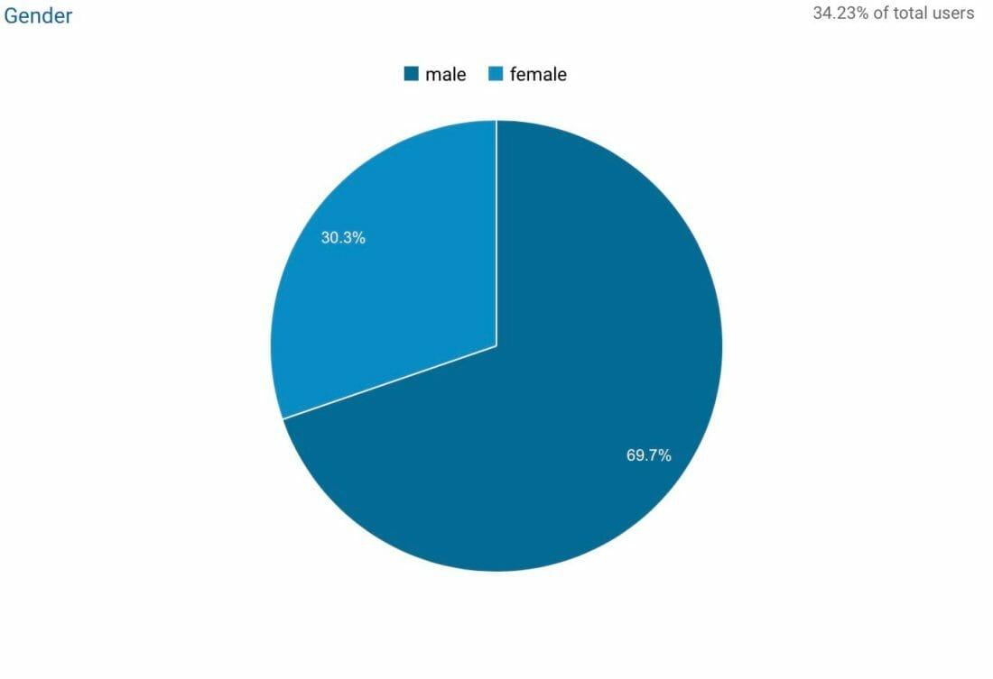 Key demographics - Visitor gender