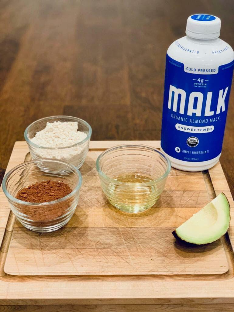 Keto Chocolate Protein Shake - Ingredients