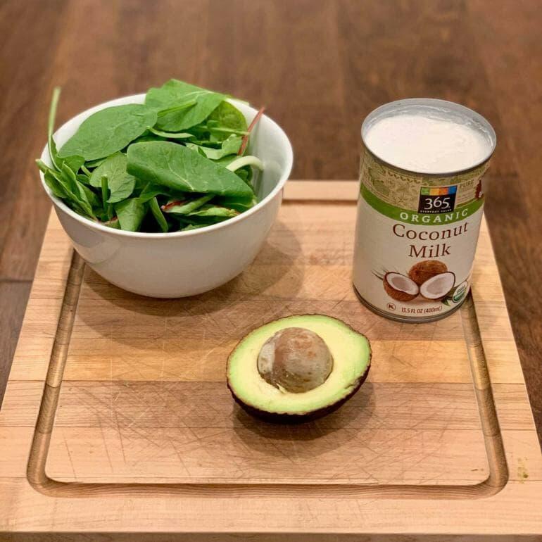 Keto Green Smoothie Bowl - Ingredients