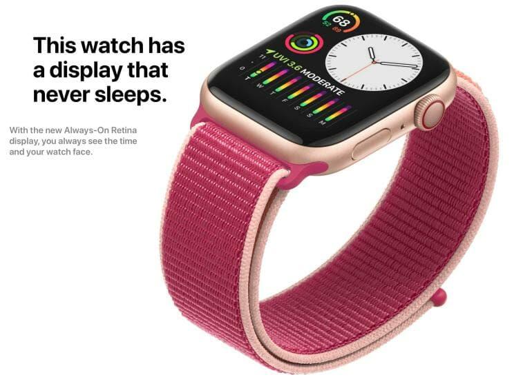 Apple Watch Series 5 - Always-On Retina Display