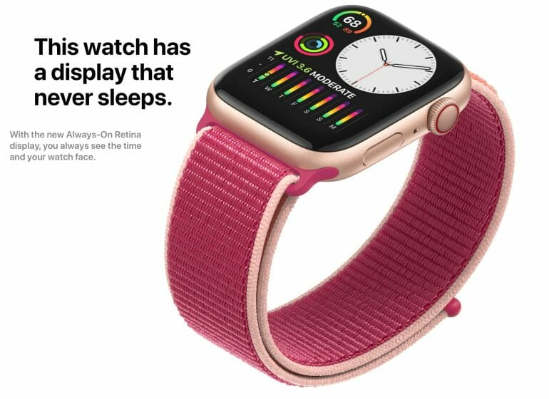 Apple Watch Series 5 - Always-On Retina Display