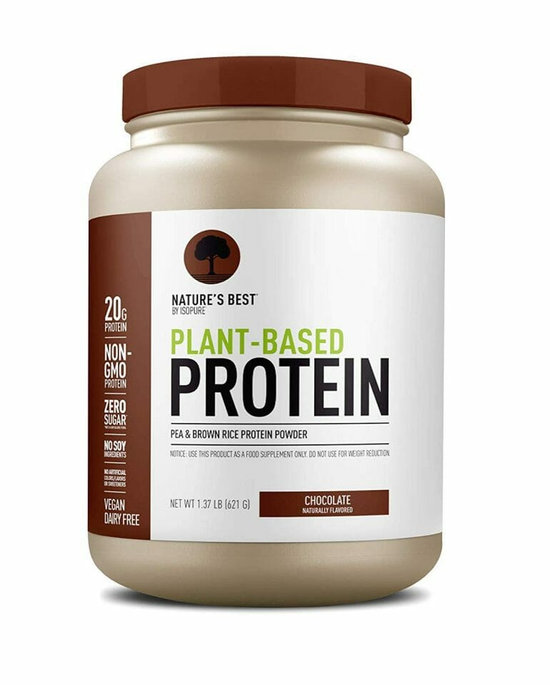Nature's Best Plant Based Vegan Protein Powder by Isopure