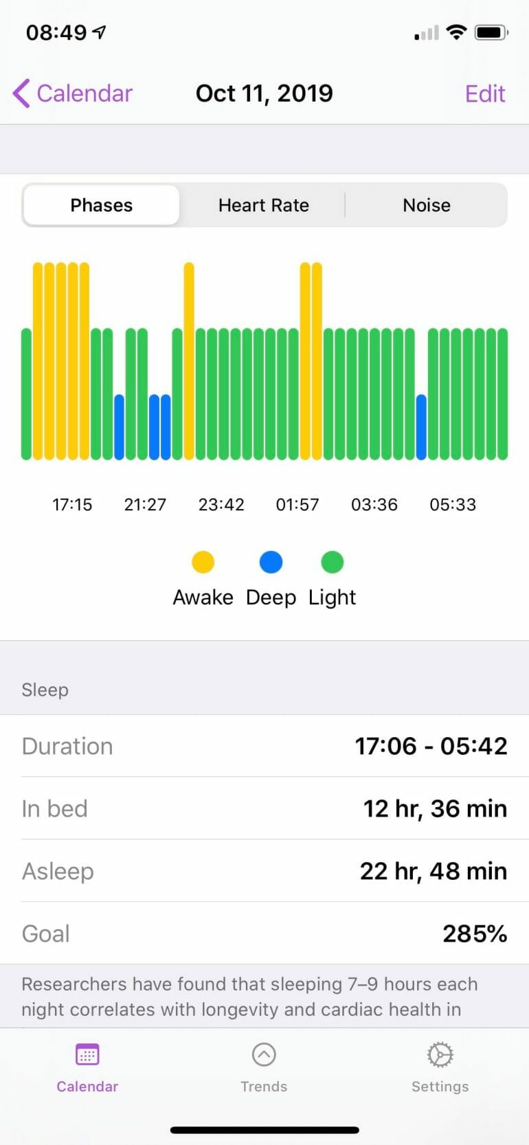 Inaccurate sleep data from NapBot