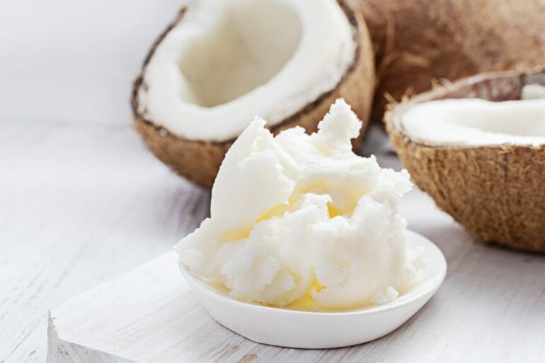 Coconut butter is made from the flesh of the fruit.