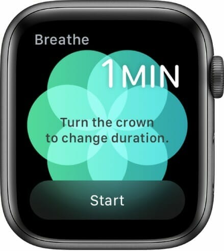 Breathe app on the Apple Watch