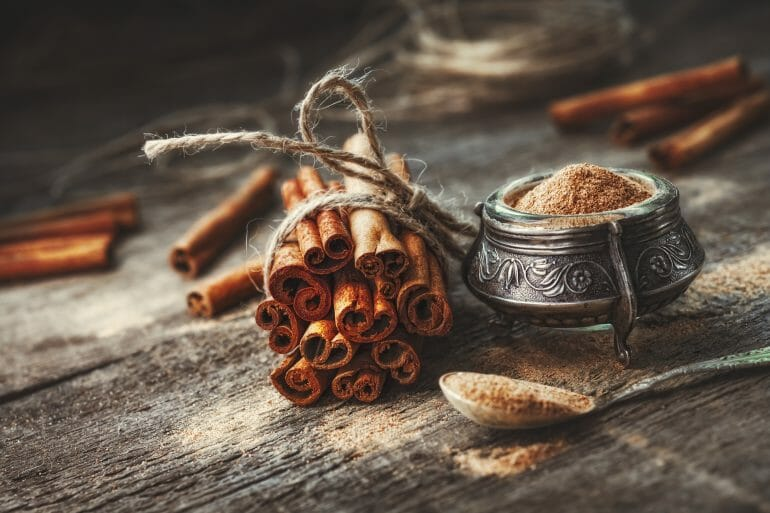 Cinnamon is a great source of antioxidants