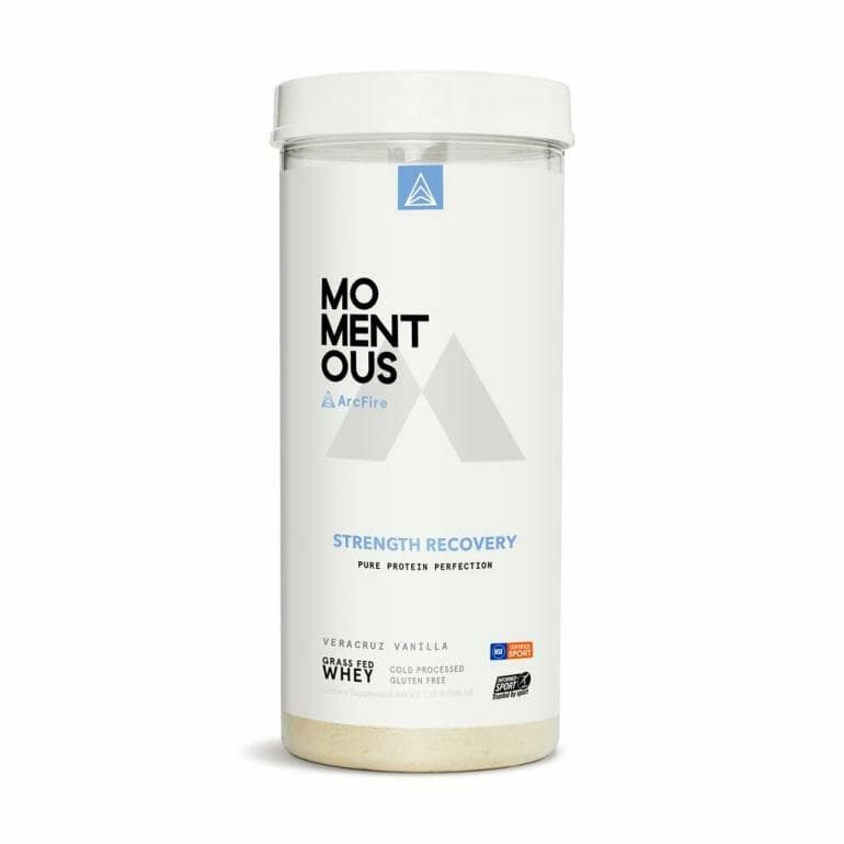 Momentous ArcFire Strength Recovery Whey Protein