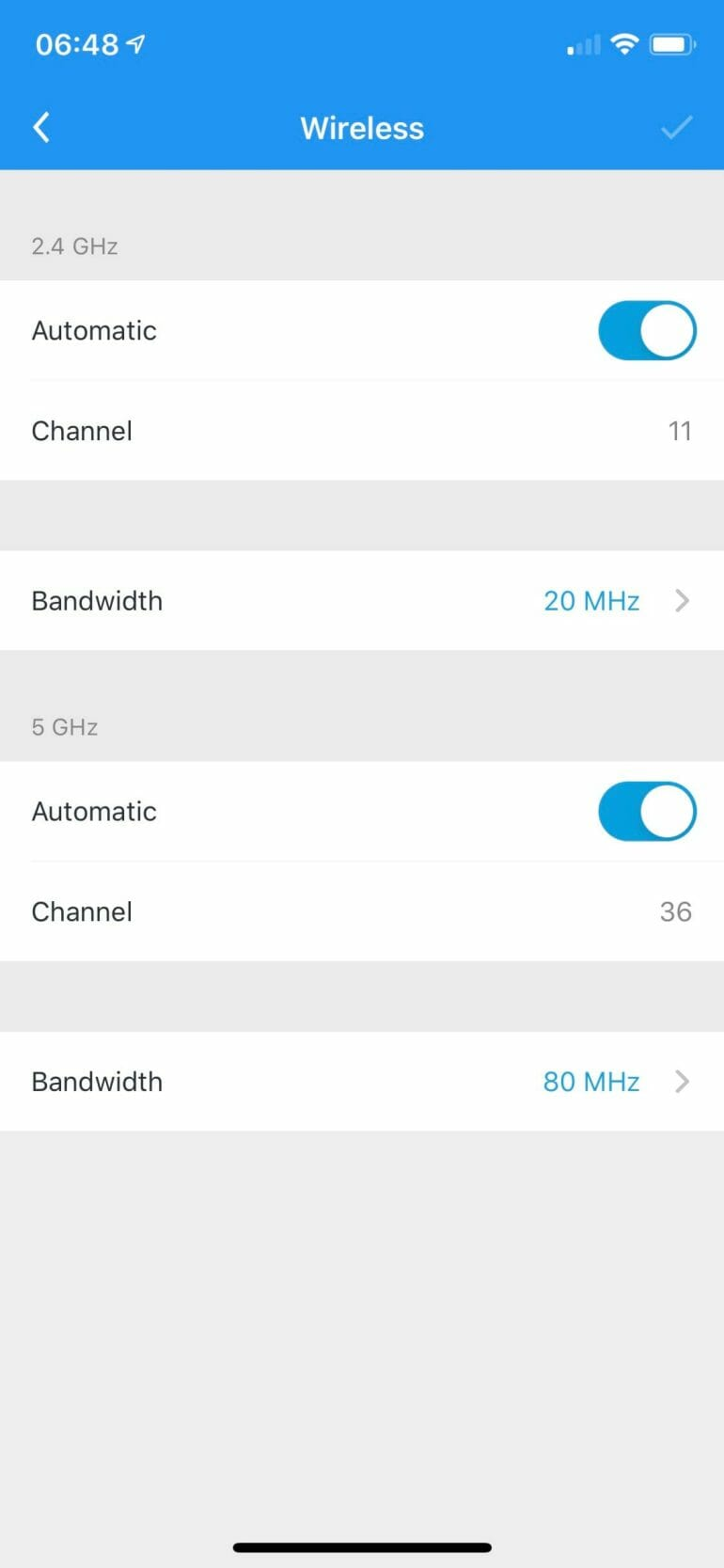 AmpliFi Alien - Advanced Channel Settings