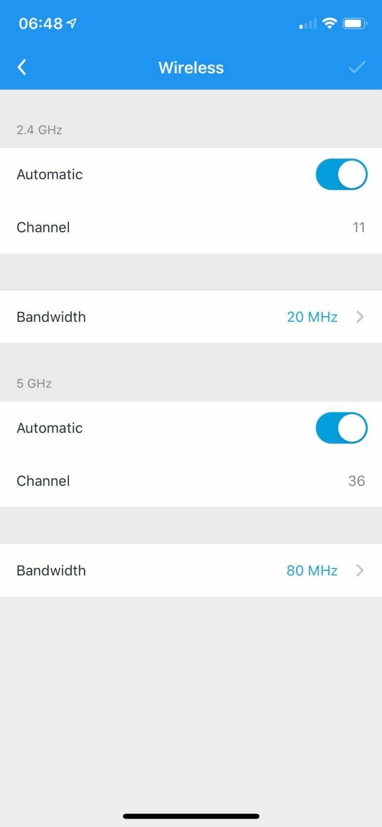 AmpliFi Alien - Advanced Channel Settings