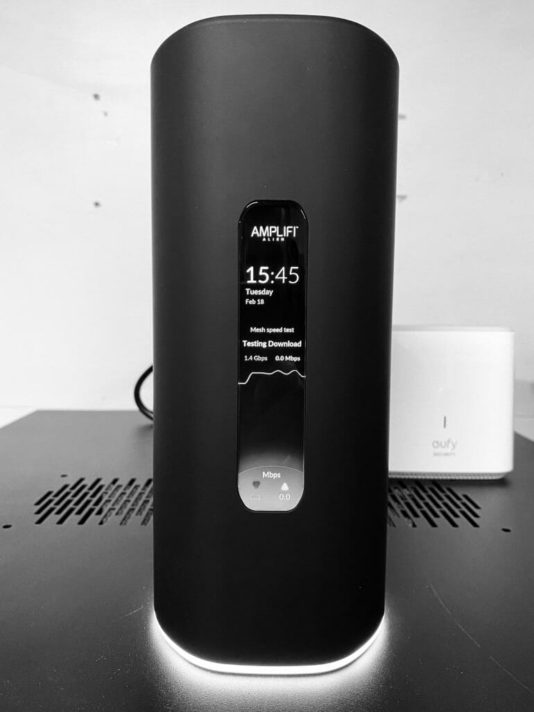 AmpliFi Alien Close up - Black and White