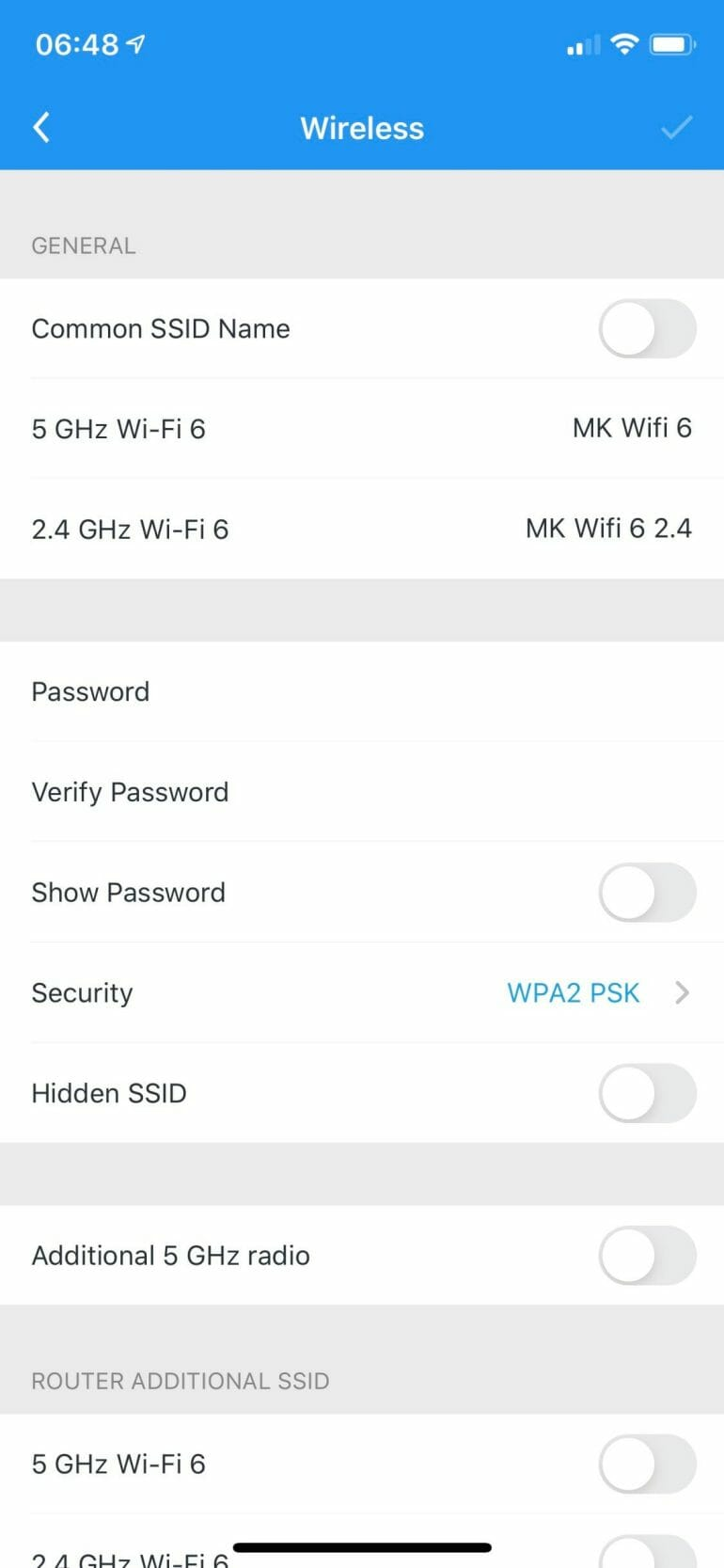 AmpliFi Alien - Wireless Settings