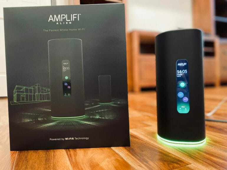 AmpliFi Alien next to its box