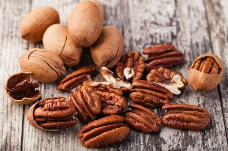 Pecans are relatively low in carbs