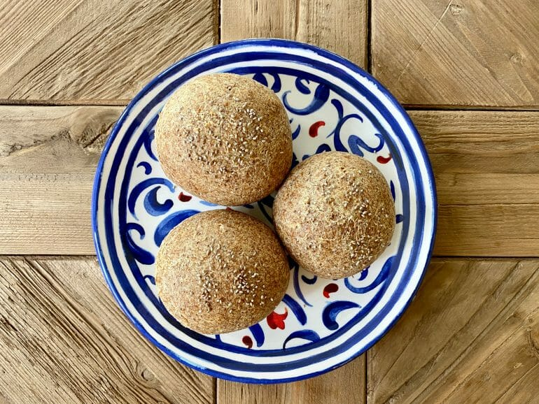 Keto bread rolls - on table top