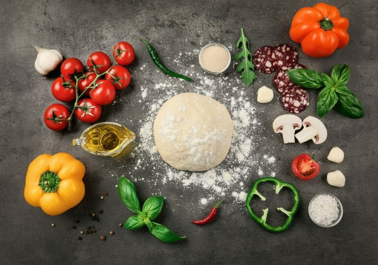 Ingredients of pizza
