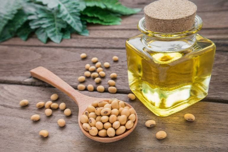 Soybean oil and soybeans