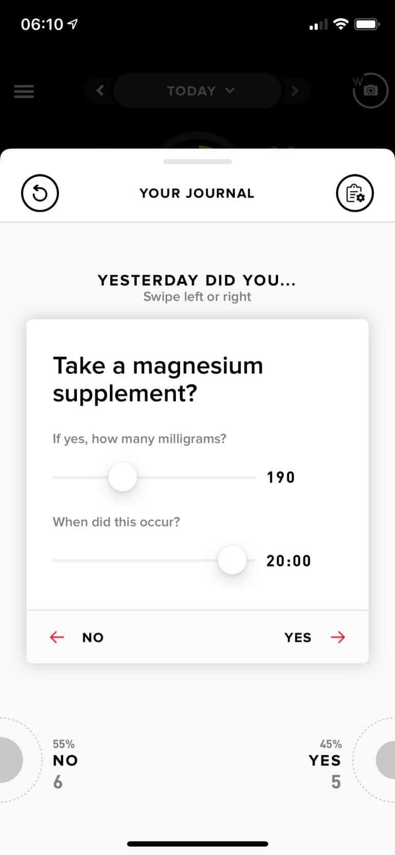 WHOOP Journal - Magnesium Supplement