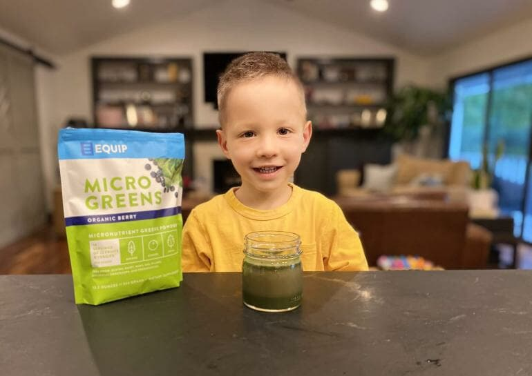 Lucas loves Micro Greens