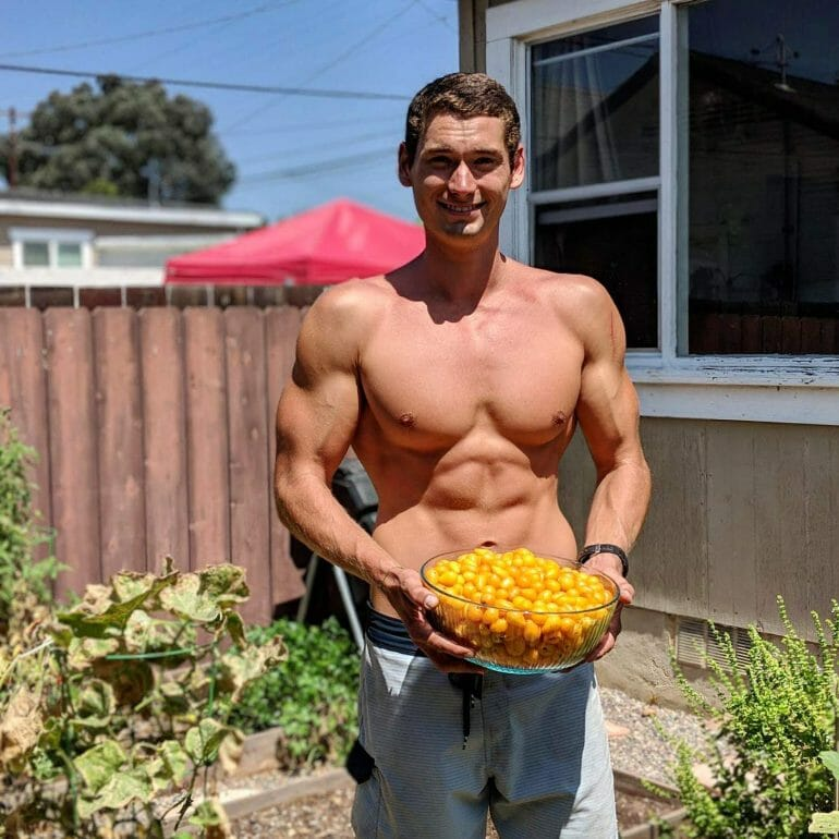 Ryan Kennedy showing off his bounty
