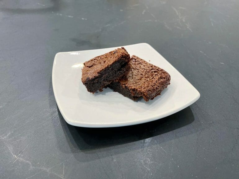 Finished keto brownies