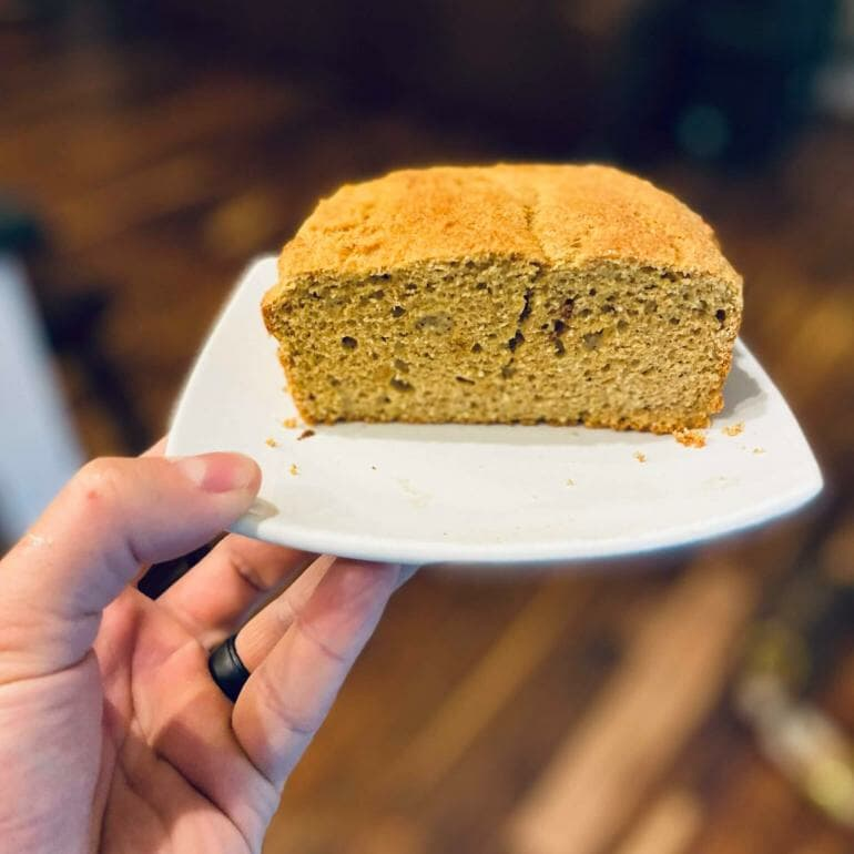 Keto bread made with KEVOO.