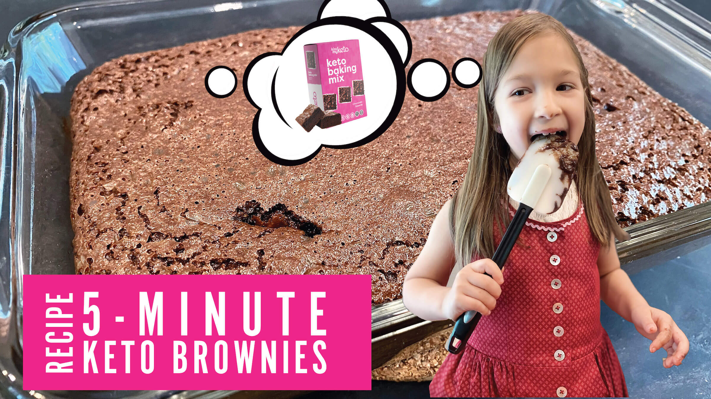 Keto Brownies (using Kiss My Keto Baking Mix)