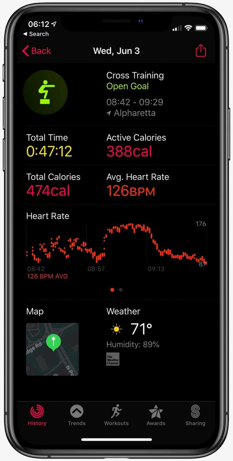 Apple Activity Tracking