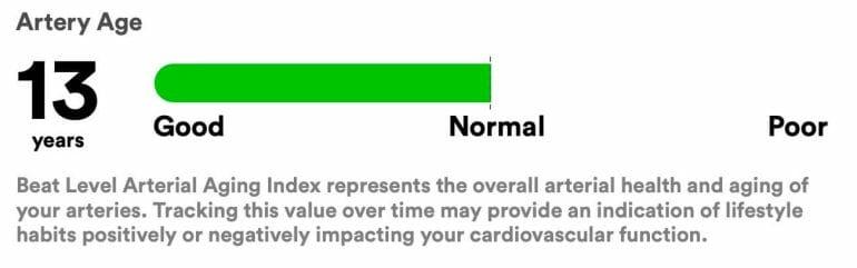 Biostrap Artery Age Report
