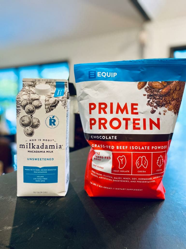 Equip Prime Protein with Macadamia Nut Milk