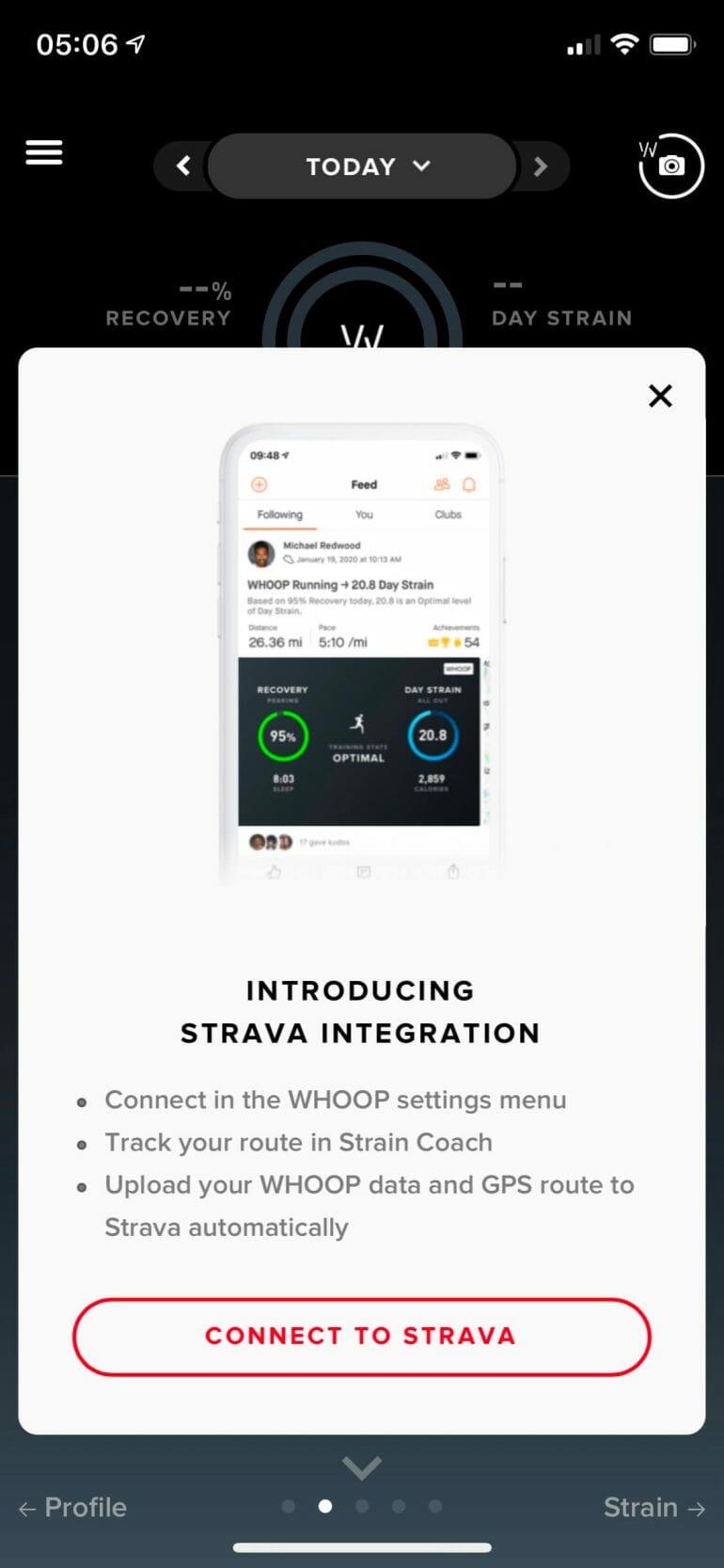 WHOOP - Strava Integration