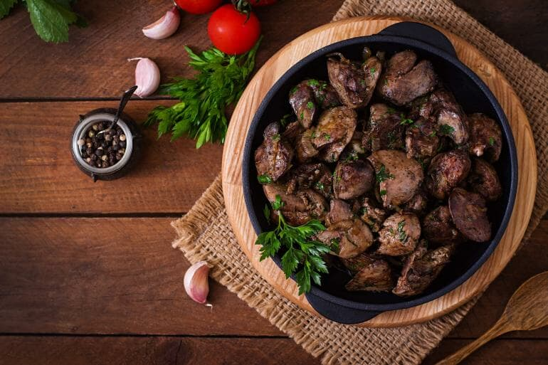 Cooked liver
