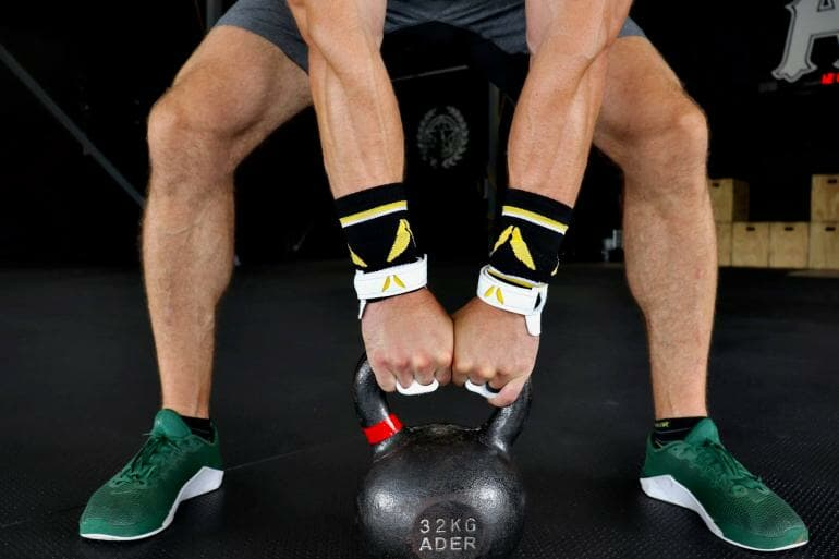Victory Grips - X2 on a kettlebell (front)