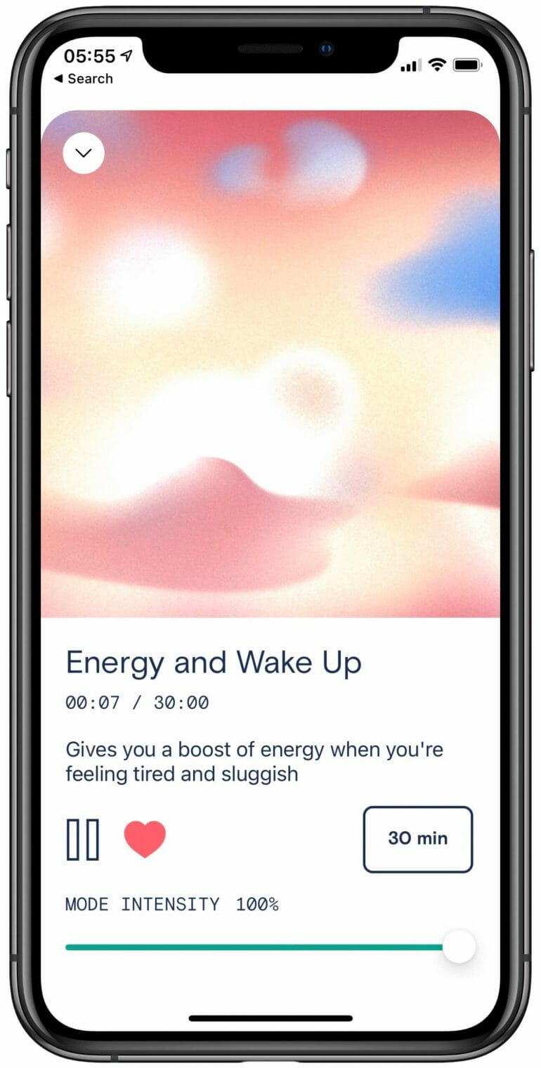 Apollo Neuroscience - App - Energy and Wake Up