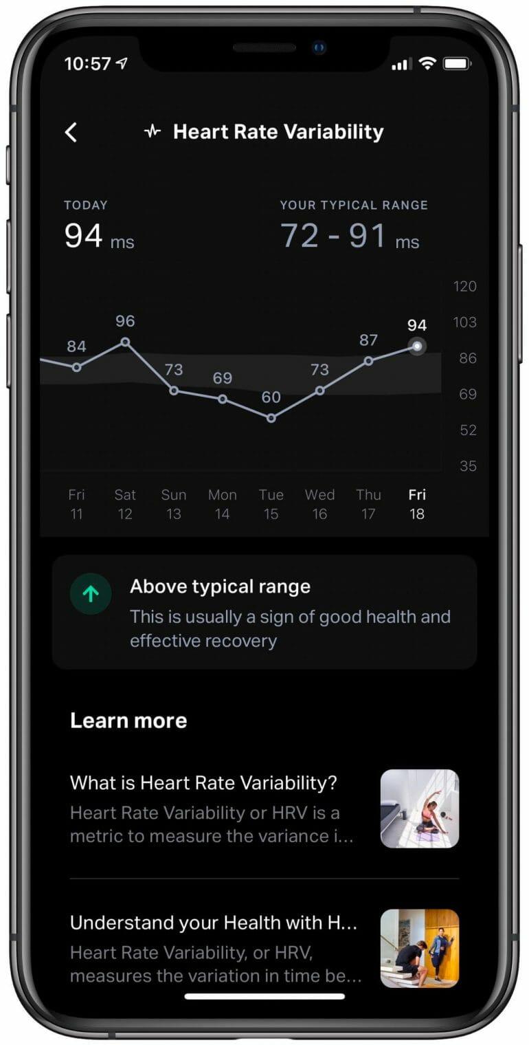Eight Sleep - HRV (Details)