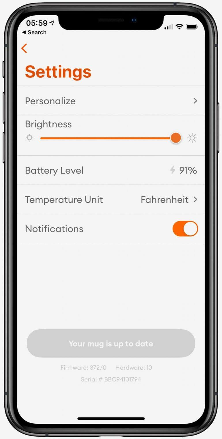 Ember App - Settings