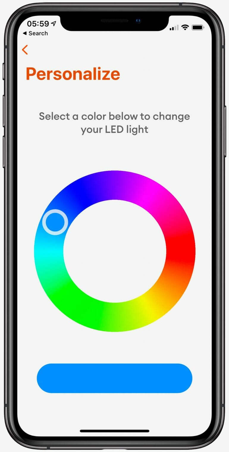Ember App - You can change the color of the LED for easier mug identification