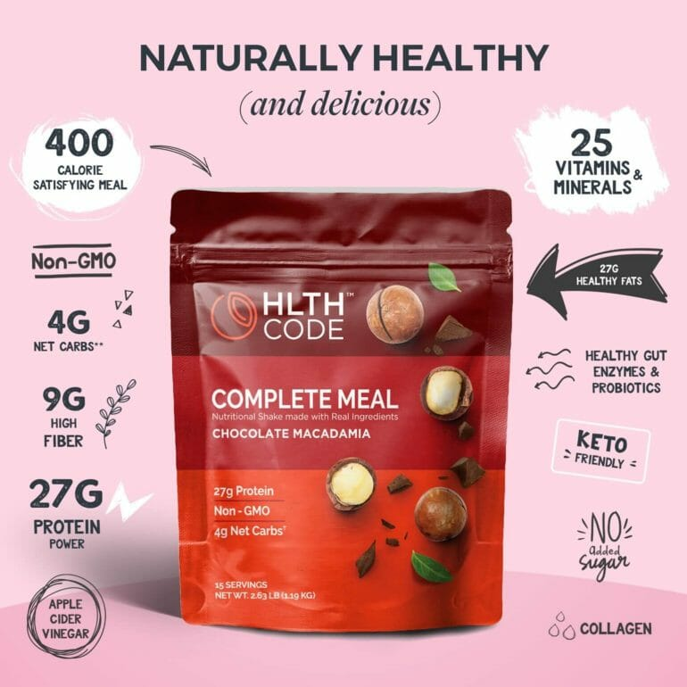 HLTH Code - Chocolate Macadamia flavor benefits
