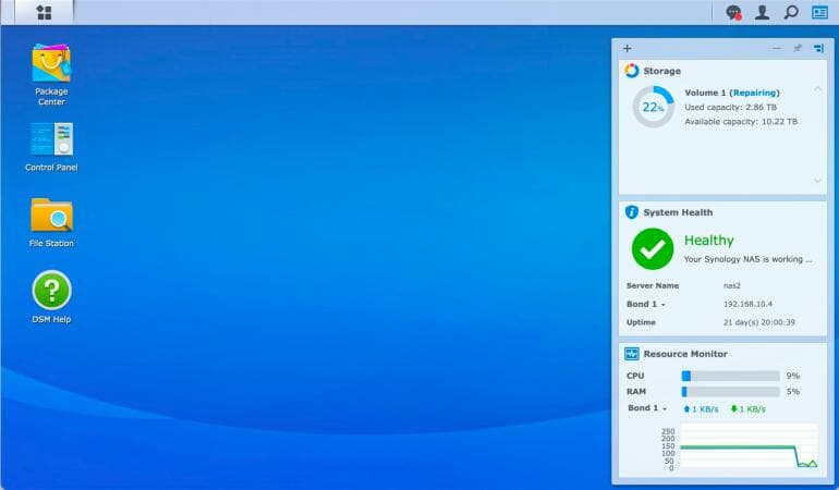 Synology DS1520+ - DiskStation Manager