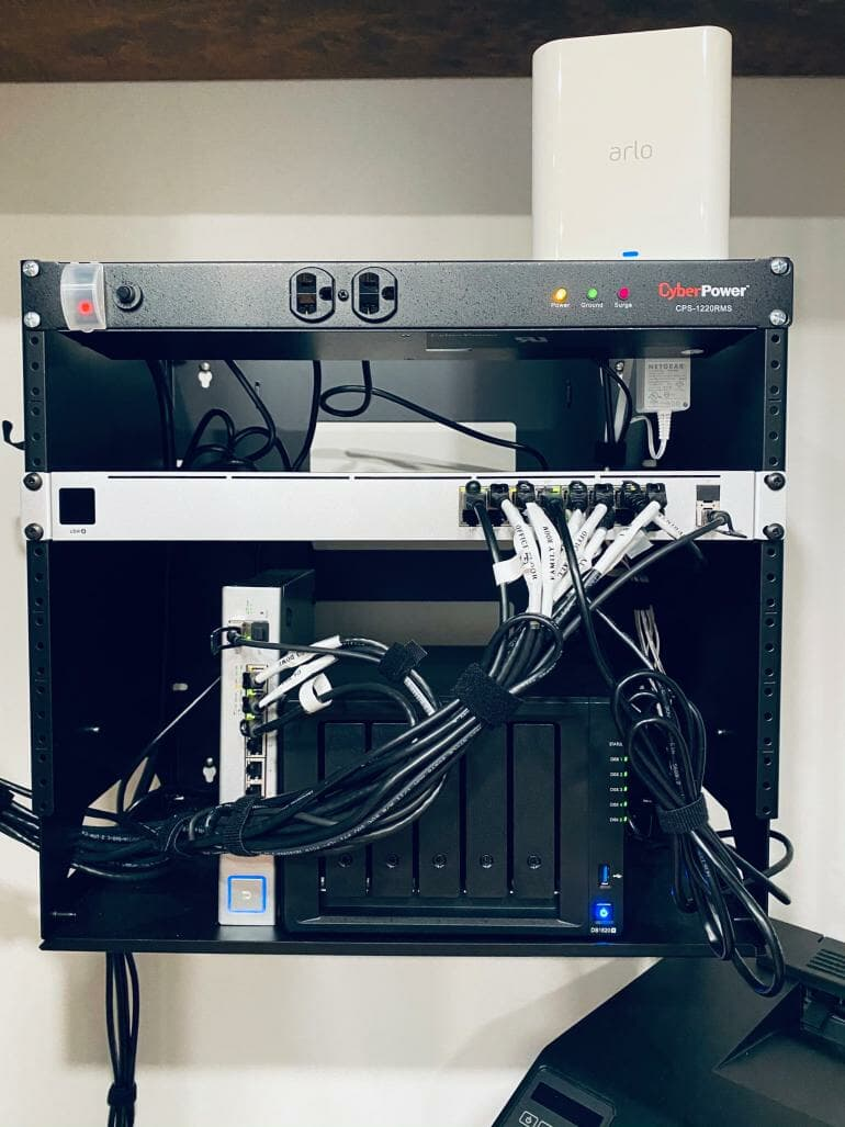 Synology DS1520+ - In wall rack