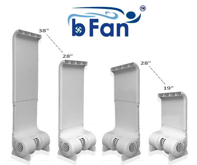 bFan sizes