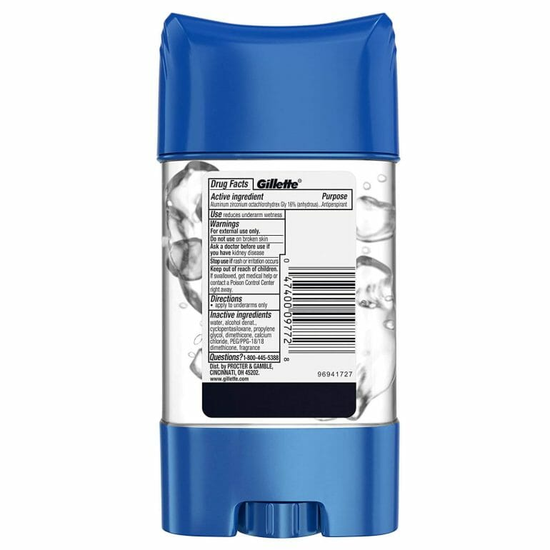 Gillette Antiperspirant
