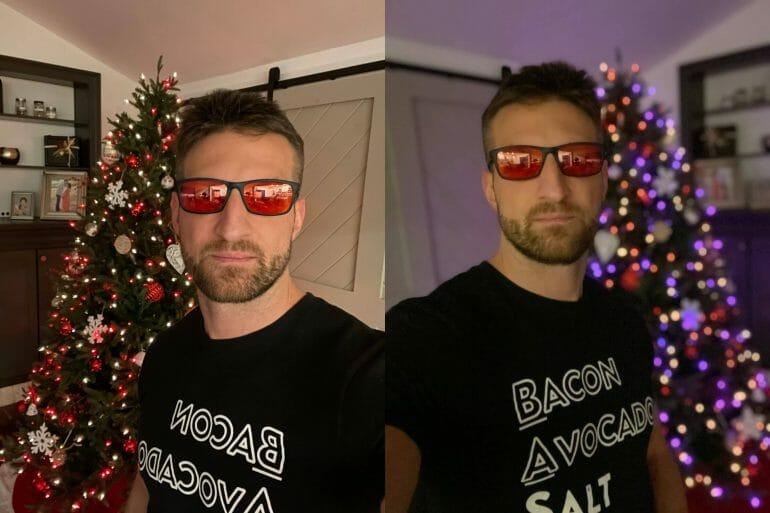 Low-light portrait mode (Night Mode) - selfie camera@2x