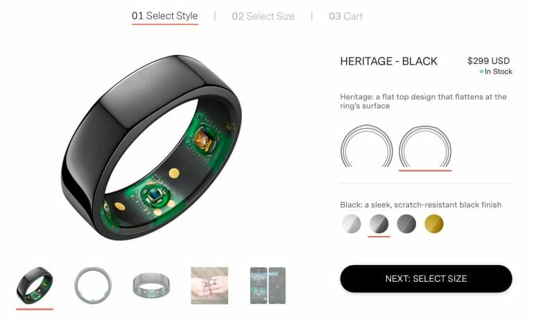 Oura Ring pricing