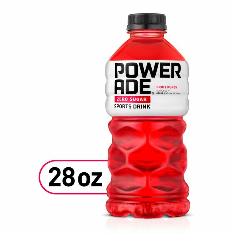 Powerade Zero Sugar has RED 40